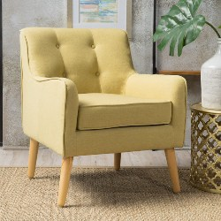 5. Button-Tufted Upholstered Accent Chair (1)