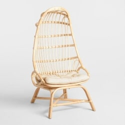 64. Rattan Cocoon Chair (1)