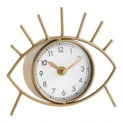68. Brushed Gold Eye Clock
