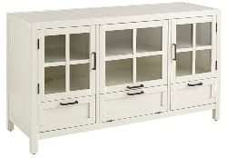 Best Living Room Furniture - Antique White Modular 52″ TV Stand