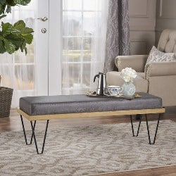 Best Living Room Furniture - Christopher Knight Home 302217 Elaina Bench