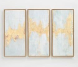Best Living Room Furniture - Fluent_In_Golds_Triptych_By_Elinor_Luna_Wall_Art_Set_Of_3