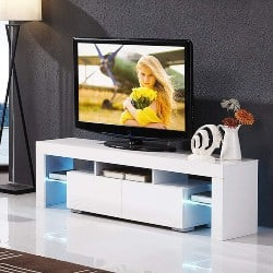 Best Living Room Furniture - High Gloss TV Stand With LED Lights