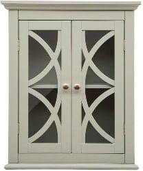 Best Living Room Furniture - Linen Gray 2-Door Low Cabinet