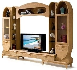 Best Living Room Furniture - Modern Living Room Furniture Ash Wood TV Stand