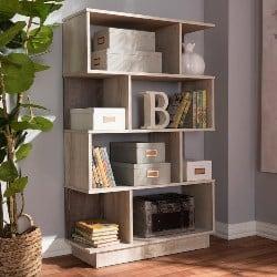 Best Living Room Furniture - Pierette Oak Display Bookcase