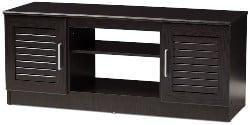 Best Living Room Furniture - Prunelle Dark Brown TV Stand