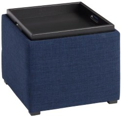 Best Living Room Furniture - Square Ryan Modular Storage Ottoman With Tray Top