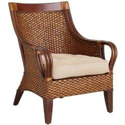 Best Living Room Furniture - Temani Brown Wicker Chair