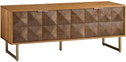 Best Living Room Furniture - Two Tone Wood Diamond Rouvin Media Cabinet