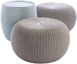 Best Living Room Furniture - Urban Knit Pouf Set
