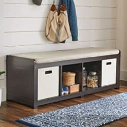 Cheap bedroom furniture ideas - Ameriwood Storage Bench with Cushion