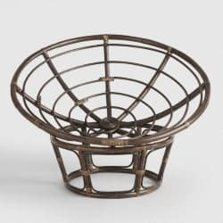 Cheap bedroom furniture- Espresso Rattan Papasan Chair Frame
