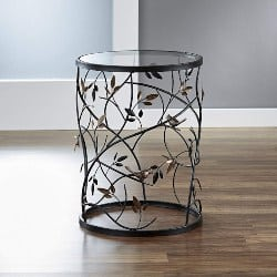 Cheap bedroom furniture- Glass Tabletop Accent Table