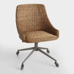 Honey Brown Wicker Tania Office Chair