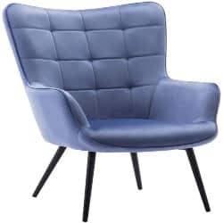 Cheap bedroom furniture- Mid-Century Modern Velvet Accent Armchair