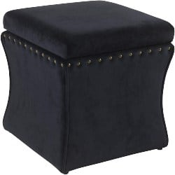 Cheap bedroom furniture- Spatial Order Miller Modern Cinch Velvet Storage Ottoman