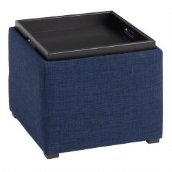 Square Ryan Modular Storage Ottoman With Tray Top