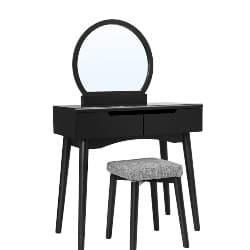 Cheap bedroom furniture-Vanity Set With Flip Top Mirror