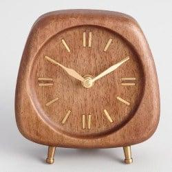 Walnut Wood Mid Century Clock