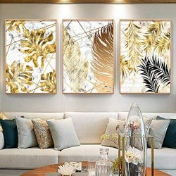 Gold Leaf Wall Art (1)