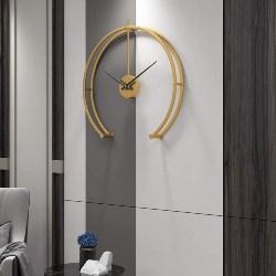 Gold Minimalist Wall Clock (1)