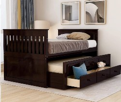 Twin Captain Storage bed (1)