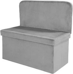 Velvet Storage Ottoman with Seat Back (1)