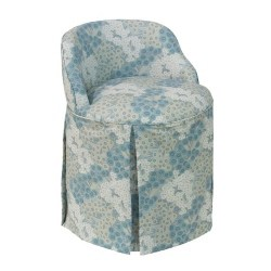 bedroom furniture - Addie Vanity Stool, Loiret Blue Linen