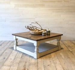 bedroom furniture - Antique White Harvest Coffee Table