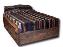 bedroom furniture - Barnwood Platform Bed