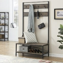 bedroom furniture - Coat Rack with Shoe Bench