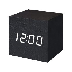 bedroom furniture - Digital Alarm Clock Wooden LED Light Multifunctional Modern Cube