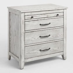 bedroom furniture - Gray Mahogany Wood Verena Nightstand