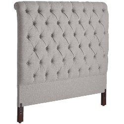 bedroom furniture - II Upholstered Pewter Headboard