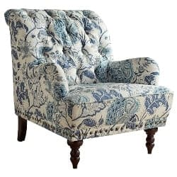bedroom furniture - Indigo Blue Floral Armchair
