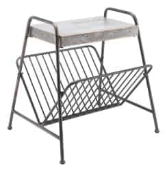 bedroom furniture - Metal Magazine Rack Antique
