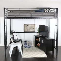 bedroom furniture - WE Furniture Full Size Metal Loft Bed