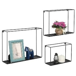 bedroom furniture - Wire Cube Floating Shelves