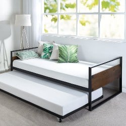 bedroom furniture - Zinus Suzanne Twin Daybed and Trundle Frame Set