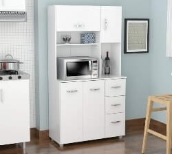 4 Door Microwave Storage Cabinet