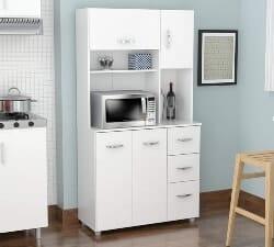 4 Door Microwave Storage Cabinet