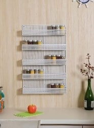 Wall Mount Spice Rack Organizer