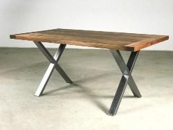 38. Chrome Walnut Dining Table (1)