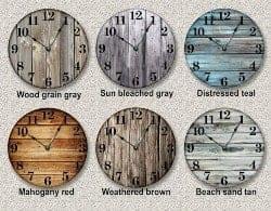 46. Large Rustic Clock (1)
