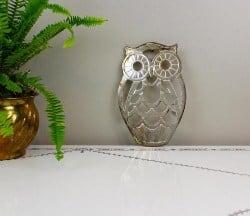 53. Vintage Silver owl trivet (1)