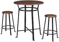 63. Counter Height Dining Room Table and Bar Stools (1)