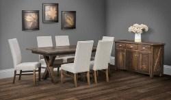 67. Reclaimed Barn Wood Buxton Dining Room Table (1)