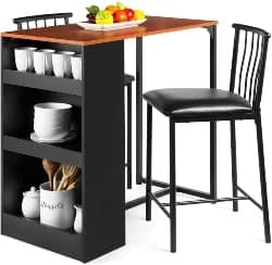 76. Kitchen Island & 2 Stools (1)
