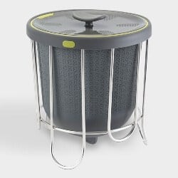 Steel And Silicone Kitchen Compost Bin